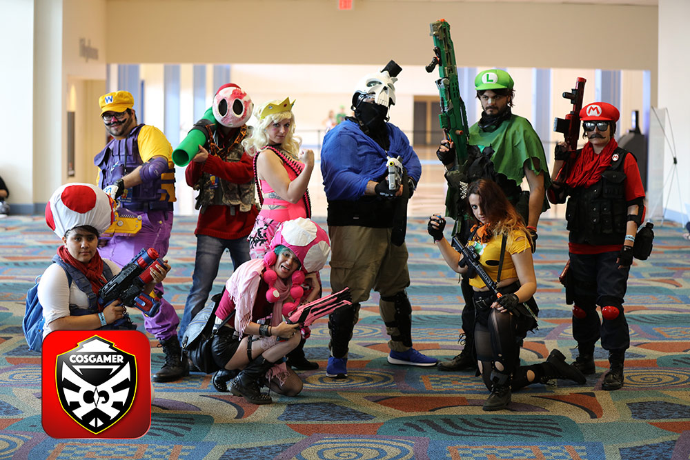 Miami Florida Supercon 2016 July Independence Day Weekend Cosplay Cosplayer Naruto Batman SuicideSquad TeamRocket Attack on Titan Minecraft Nintendo Mario Luidgi Wario Princess Toadstool