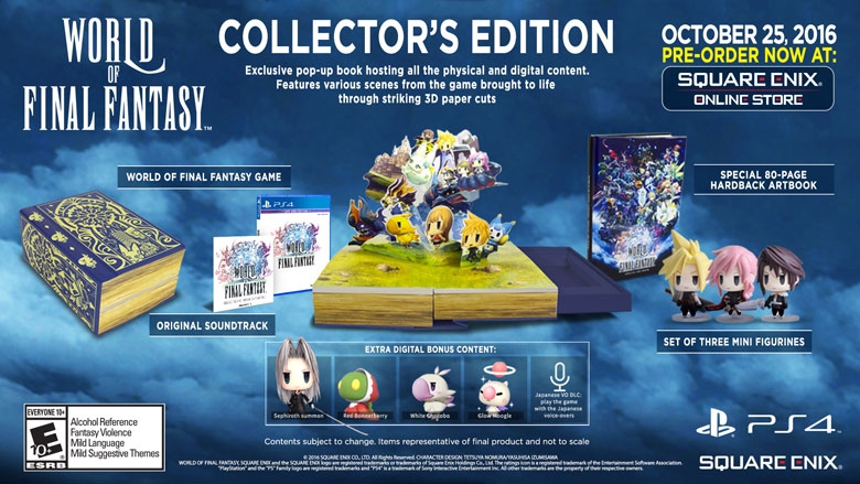 World of Final Fantasy Collectors Edition Playstation 4 PS Vita Square Enix
