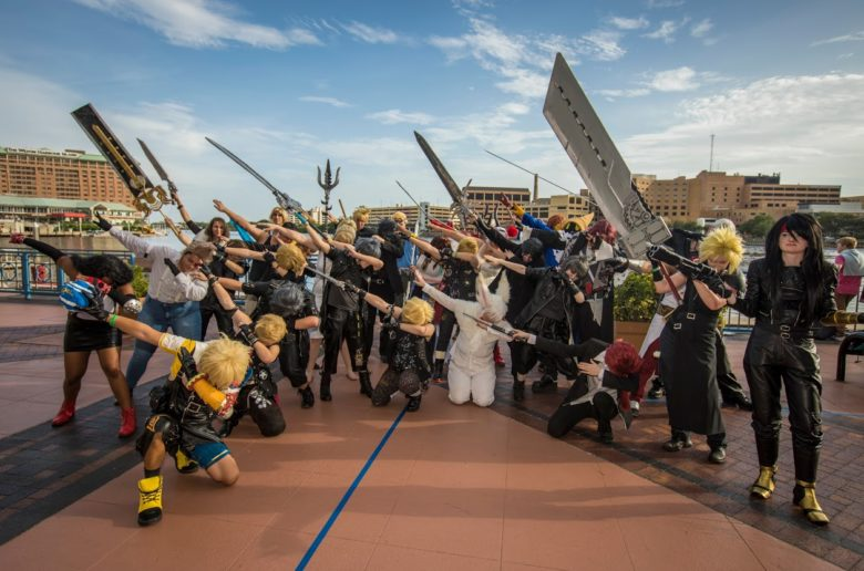 Metrocon Final Fantasy 2017 Cosgamers Cosplay group photo shoot